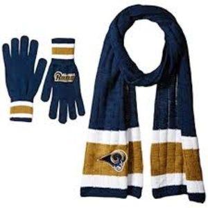 NFL Los Angeles Rams Scarf & Glove Set